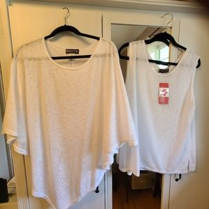 BNWT 2 Piece Top and Cape Set- Size XL